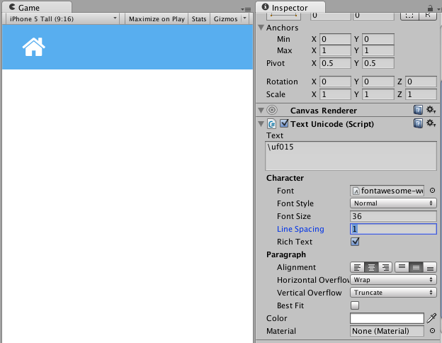 Unity3D UI Typography: Font Awesome - Unity3D UI Typography